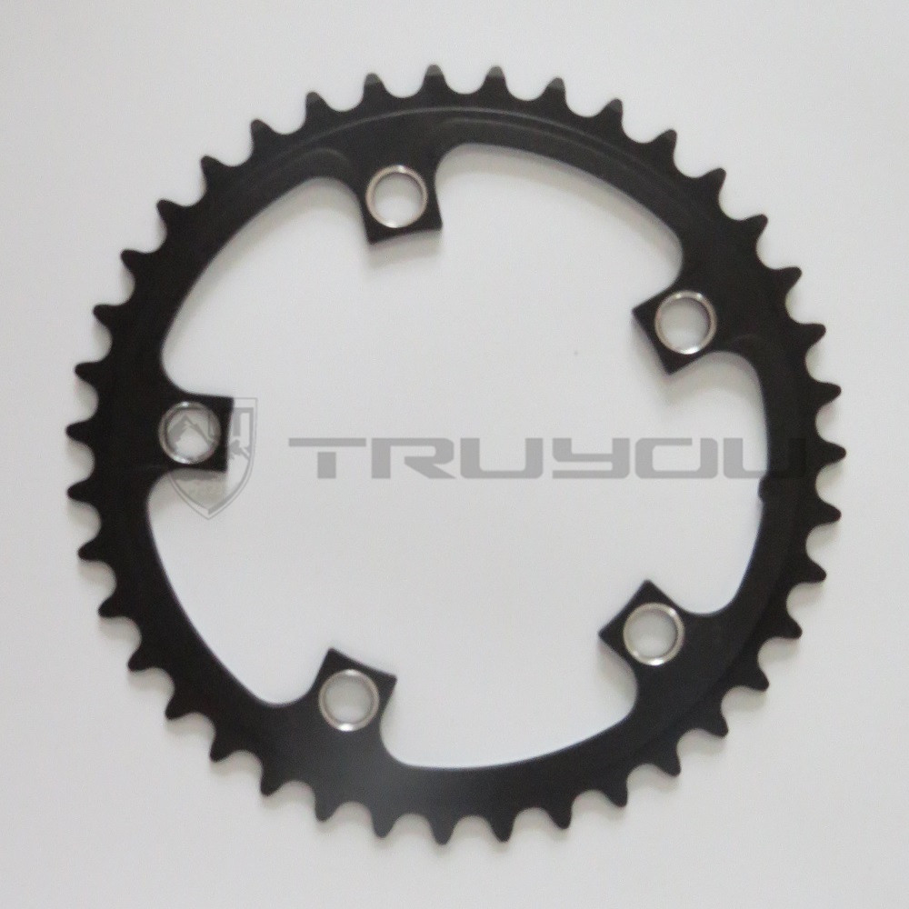 Image 4 - TRUYOU Road Bicycle Chain Wheel BCD 110 53T 39T Double Disc Black Chainwheel Folding Bike Chainring Alloy 2*7/8/9 speed CNC 3/32-in Bicycle Crank & Chainwheel from Sports & Entertainment