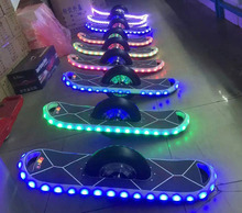 strip light bluetooth one wheel electric balance scooter,personal transporter chariot unicycle