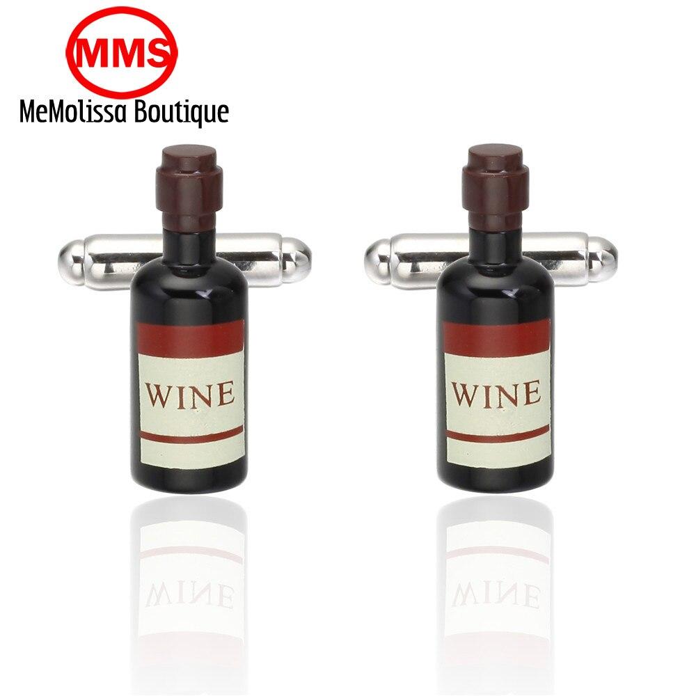 MeMolissa font b Formal b font Golden wine bottle Cufflink for font b Mens b font