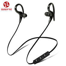 Nouvve Bluetooth Earphone Sports Wireless Headphone SweatProof Bluetooth Headset Bass Earbuds With Mic For Phone iPhone Xiaomi(China)