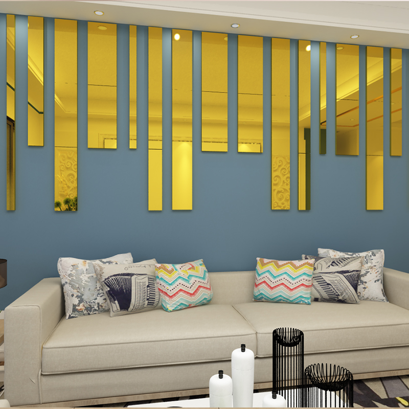 Closeout DealsWall-Stickers Background Waist-Line Acrylic 3d Living-Room Ceiling Art New