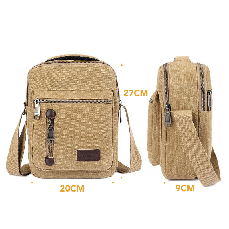 Amarte Fashion Men's Bag Shoulder Crossbody Bags For Men Messenger Bag Canvas Small Male Khaki 2018 Bolso Hombre YM1725 japanese pouch small hand carry green canvas heat preservation lunch box bag for men and women shopping mama bag