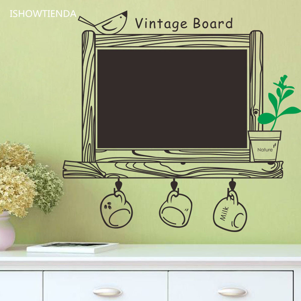 ヾ(^▽^)ノISHOWTIENDA Creative Class Black Board Wall Sticker ...