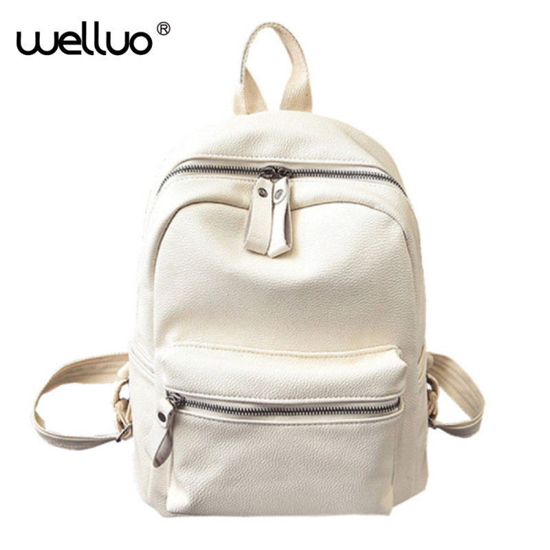 Sweet College Wind Mini School Bag High Quality PU Leather Preppy Style Fashion Girl Candy Color Small Casual Backpack XA384B  2016 high quality fashion new women backpack pu leather ladies shoulder bag college frosted backpack wild simple mini school bag