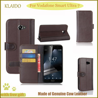 KLAIDO Genuine Leather Mobile Phone Case For Vodafone Smart Ultra 7 Flip Case For Vodafone Smart