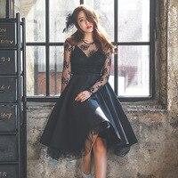 2019 Women Black Dresses Sexy formal dress Soft Lace Hollow out Plus size платье платье женское