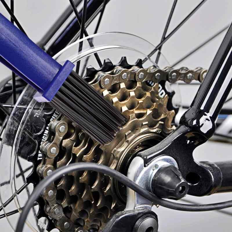 חדש 1 Pcs אופנוע גלגל מברשת אופניים רכיבה על אופניים Crankset שרשרת מברשת כלי הילוך מברשת שרשרת גלגל גלגל תנופה ניקוי שרשרת כלים
