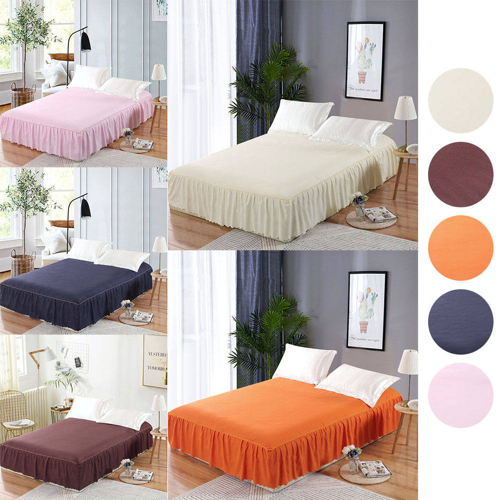 150*200cm New Wrap Around Bed Ruffle Bed Skirt Korean Bedspread Suite Single Bed Single Bed Hat Bedspread 45cm Height