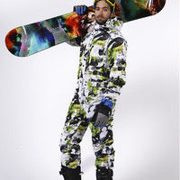 Saenshing цельный лыжный костюм мужской сноуборд комбинезон мужской лыжный комплект водостойкий ветрозащитный утепленный лыжный жакет + зимни
