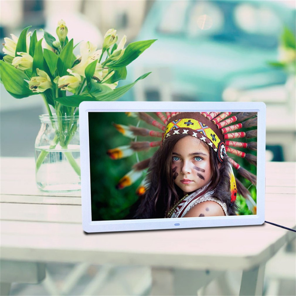 15 LED HD High Resolution font b Digital b font Picture Photo Frame with Remote Controller