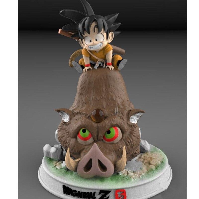 Prévente Dragon Ball année du cochon Goku monte un cochon fils Goku enfance GK Statue modèle jouet (période de livraison: 60 jour) M830