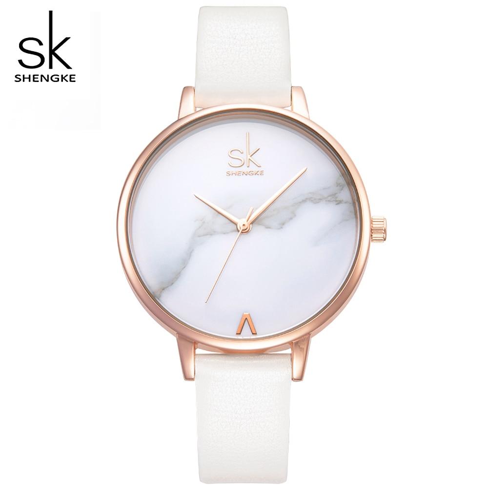 SK 2017 Populaire Mode Femmes Quartz Montres Lady Robe Montre En Cuir Femmes de Quartz-Montres Horloge Reloj Mujer Lovers Gril Cadeau