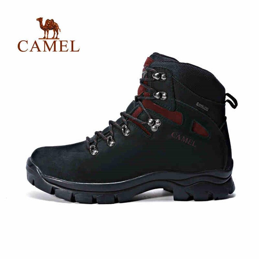 CAMEL Hommes Sports De Plein Air Chaud Marque Lacets En Cuir Imperméable À L'eau Tactique Confortable Chaussures de Randonnée Escalade Trkking Bottes