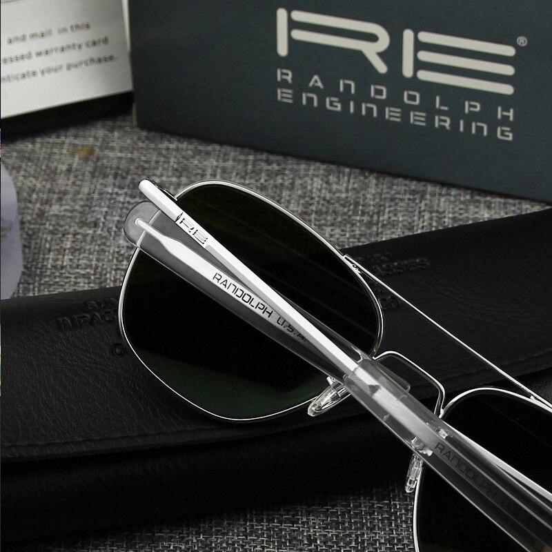 Pilot USA.RE Sunglasses Men Top Quality Brand Designer RANDOLPH Mirror AGX Tempered Glass Lens AO Sun Glasses Male YQ1005