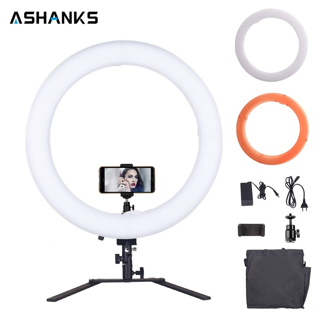 18'' Ring Light LED Selfie 60W Makeup Lamp Dimmable with