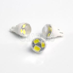 Image 2 - 100X samochód T10 ceramiczny Mini 3 SMD 2835 W5W LED 18*11*9mm 20MA czytanie światła parkowania Sidemarker Sidelight żarówki biały bursztynowy 12V