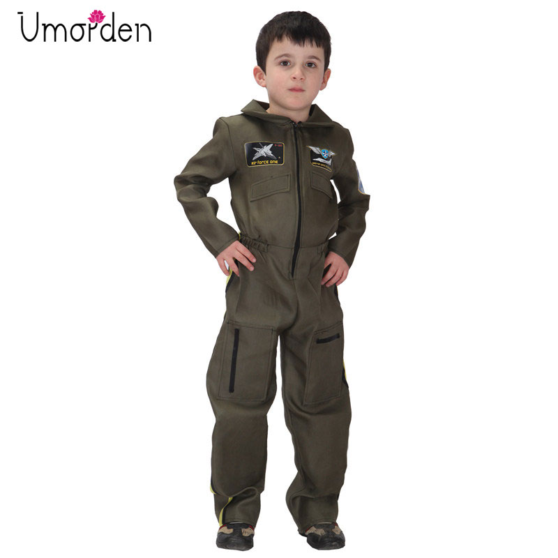 Umorden Purim Carnival Halloween Costumes Kids Boy Air Force Costume Boys Airman Special Forces Pilot Cosplay