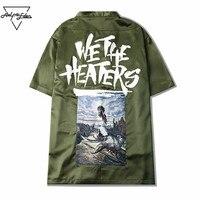Aelfric Eden Mens Dress Shirt Open Stich Half High Quality Hip Hop Shirts Comfortable Clothes Men