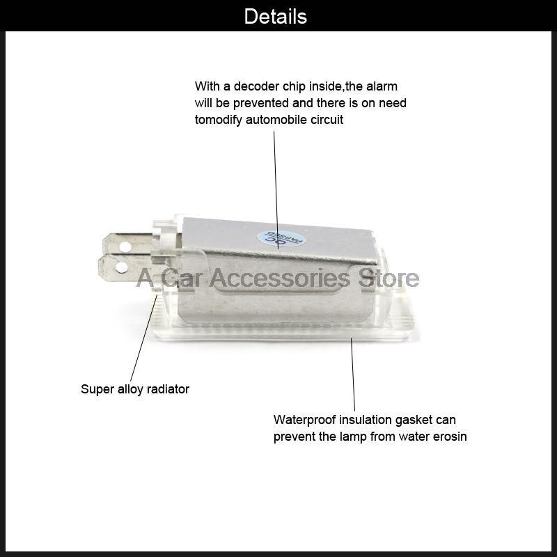 car LED Luggage Compartment Hood Light fit For Porsche 987 Cayman Boxster 996 997 Carrera набор приспособлений для фиксации коленвала и распредвала porsche 987 981 997 991 jtc 4423