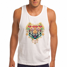 2018 Animal Print Mens Tank Tops Cool Tiger Print Men's Vests Casual Mens Tank Vogue Designer Summer Top