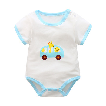 baby boys clothes 2019 Summer Cartoon Newborn baby rompers cotton Baby Girl Clothes jumpsuit 0-24M kids Clothing Set 1