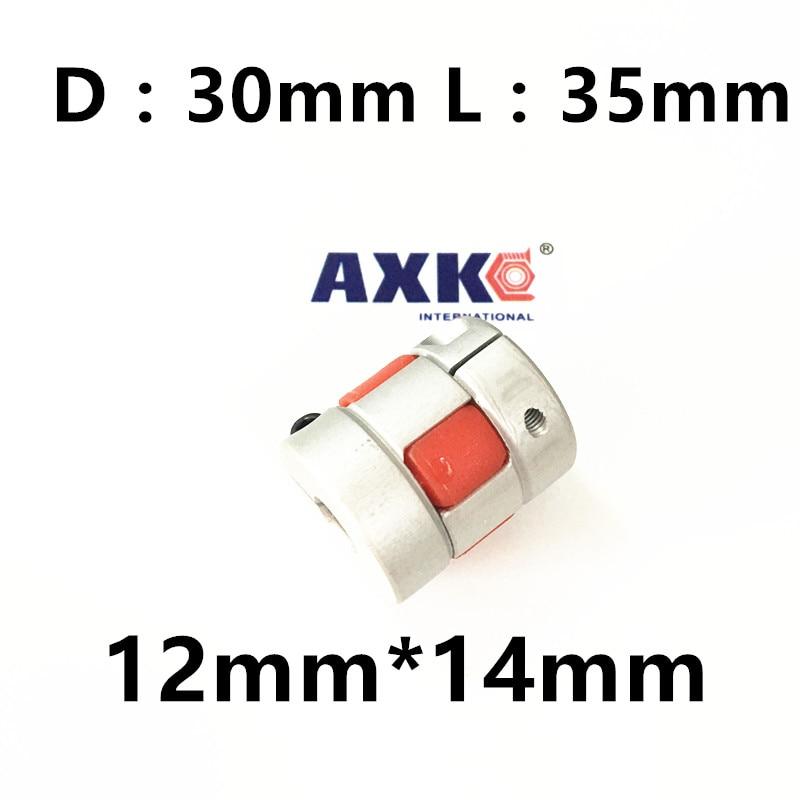 CNC Plum Shaft Flexible jaw spider Coupler 12mm*14mm Motor Coupling 12mm to 14mm Dia=30mm Length=35mm 20pcs cnc 3d printer jaw spider plum shaft flexible coupler 5mm 12 7mm motor coupling 5mm to 12 7mm d30mm l35mm