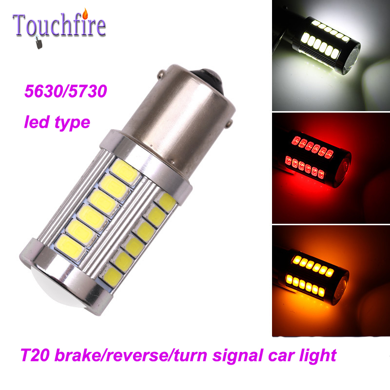2pcs t20 1156 1157 BA15S 5630 5730 7443 LED Car Tail Bulb Brake Lights Reverse Auto turn signal car Lamp Light 12V 33smd BAY15D