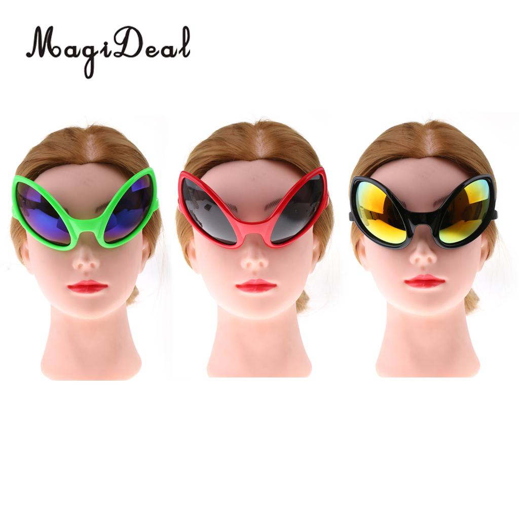 7ec2fb1fe56 MagiDeal Pack of 6pcs Fashion Red Green Black Alien Sunglasses Kids Adults  Party Fancy Dress Costume