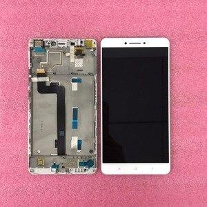 """Image 2 - Ban đầu LCD Tốt Nhất Được Kiểm Tra Chất Lượng Tốt Cho 6.44 """"Tiểu Mi Mi Max Mi Max màn hình LCD màn hình + cảm ứng bảng điều khiển Bộ số hóa có khung Trắng"""