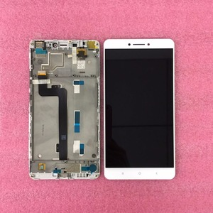 "Image 2 - Original LCD Best Quality Tested Well For 6.44"" Xiaomi Mi Max mimax LCD screen display+touch panel digitizer with frame white"