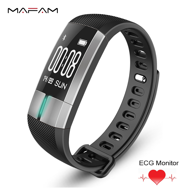 MAFAM G20 Smart Bracelet Band Waterproof ECG Heart Rate Monitor Fitness Activity Tracker Blood Pressure Wristband PK Mi Band 2 3 2018 heart rate smart band smart bracelet waterproof activity wristband high capacity low power usb charging pk xiomi mi band 3