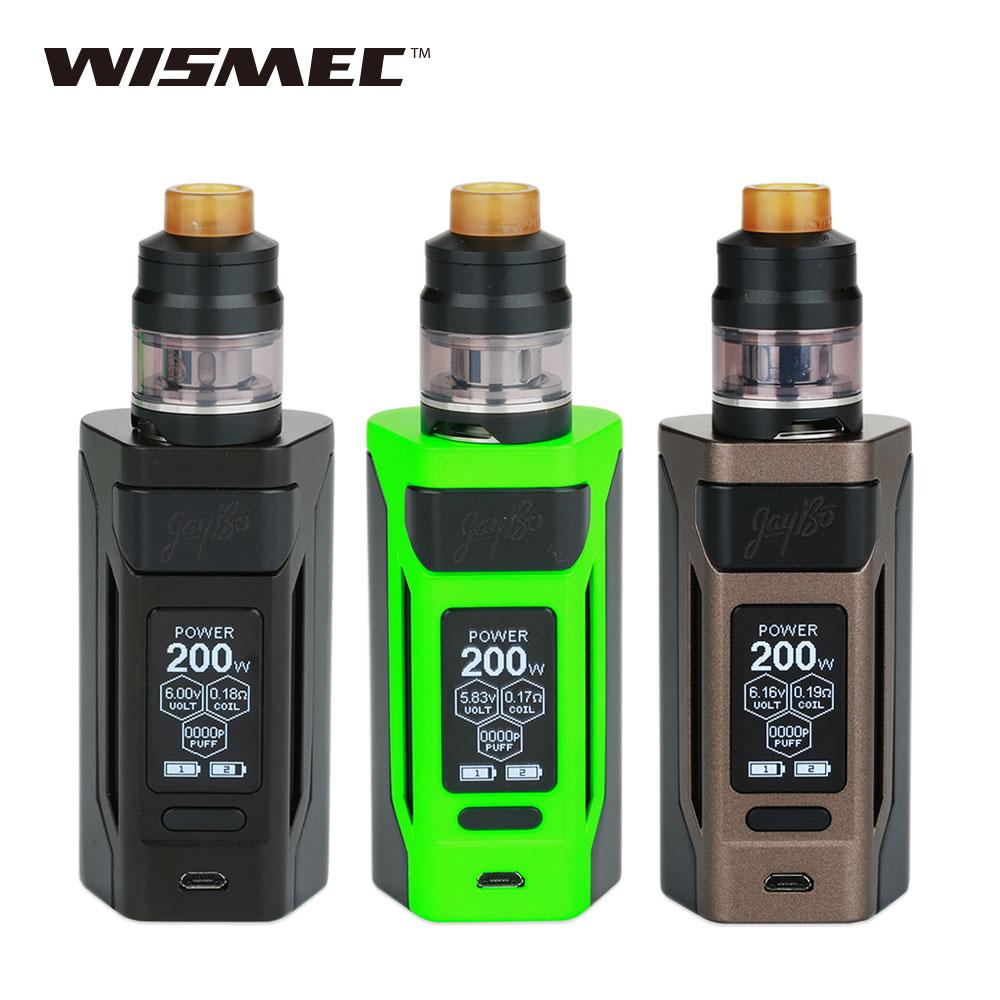 D'origine 200 W WISMEC Reuleaux RX2 20700 TC Kit avec Double 20700 Batteries 6000 mAh 2 ml/4 ml Gnome Atomiseur E cig RX 2 Vaporisateur Kit