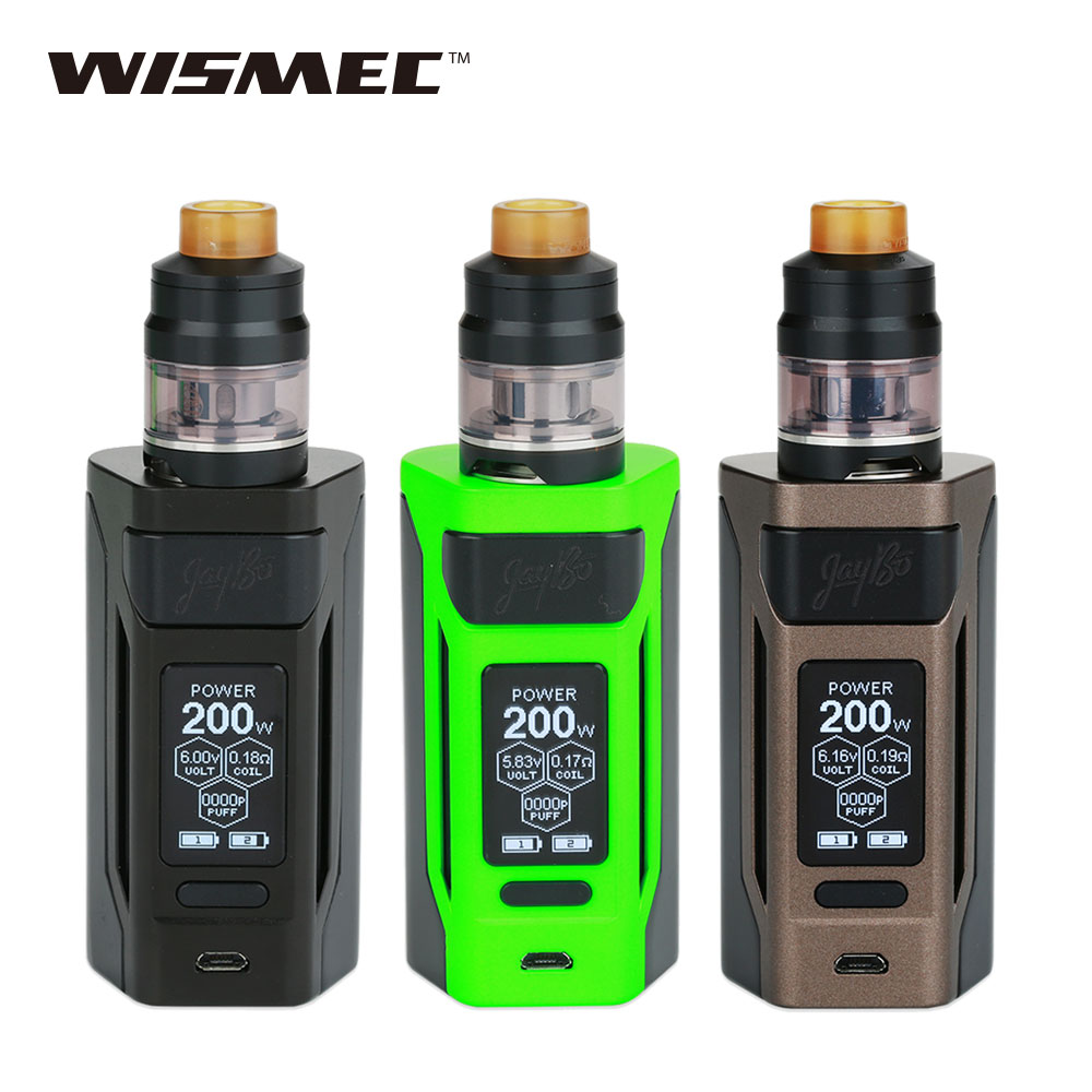 Original 200W WISMEC Reuleaux RX2 20700 TC Kit With Dual 20700 Batteries 6000mAh 2ml/ 4ml Gnome Atomizer E Cigs RX 2 Vape Kit