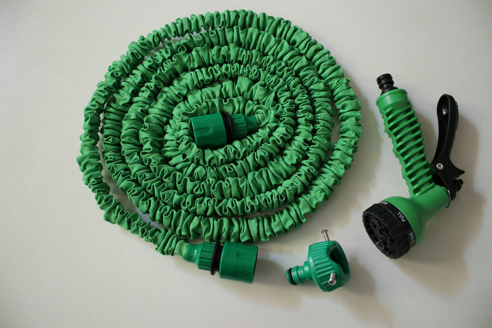 Universal Connector+Expandable Flexible Hose 100FT 26M(As Seen On TV ) 7 Forms Spray Household Watering Kits Water Garden Hose manguera expandible