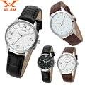 VILAM Женщины и Мужчины Часы любовника Часы Мужские Luxury Brand мода & Casual Любовника Кожаный ремешок Кварцевые часы Подарок На День Рождения 8