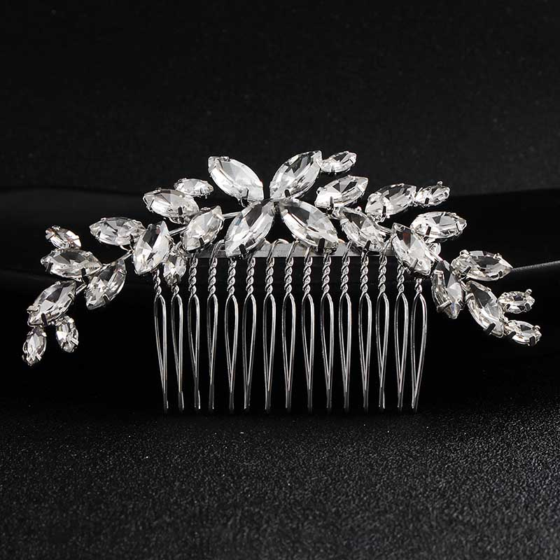Miallo Wedding Hair Comb Clip for Bridal Rhinestone Hairpins Accessories for Bride Hair Side Combs Jewelry for Women Headpieces 4