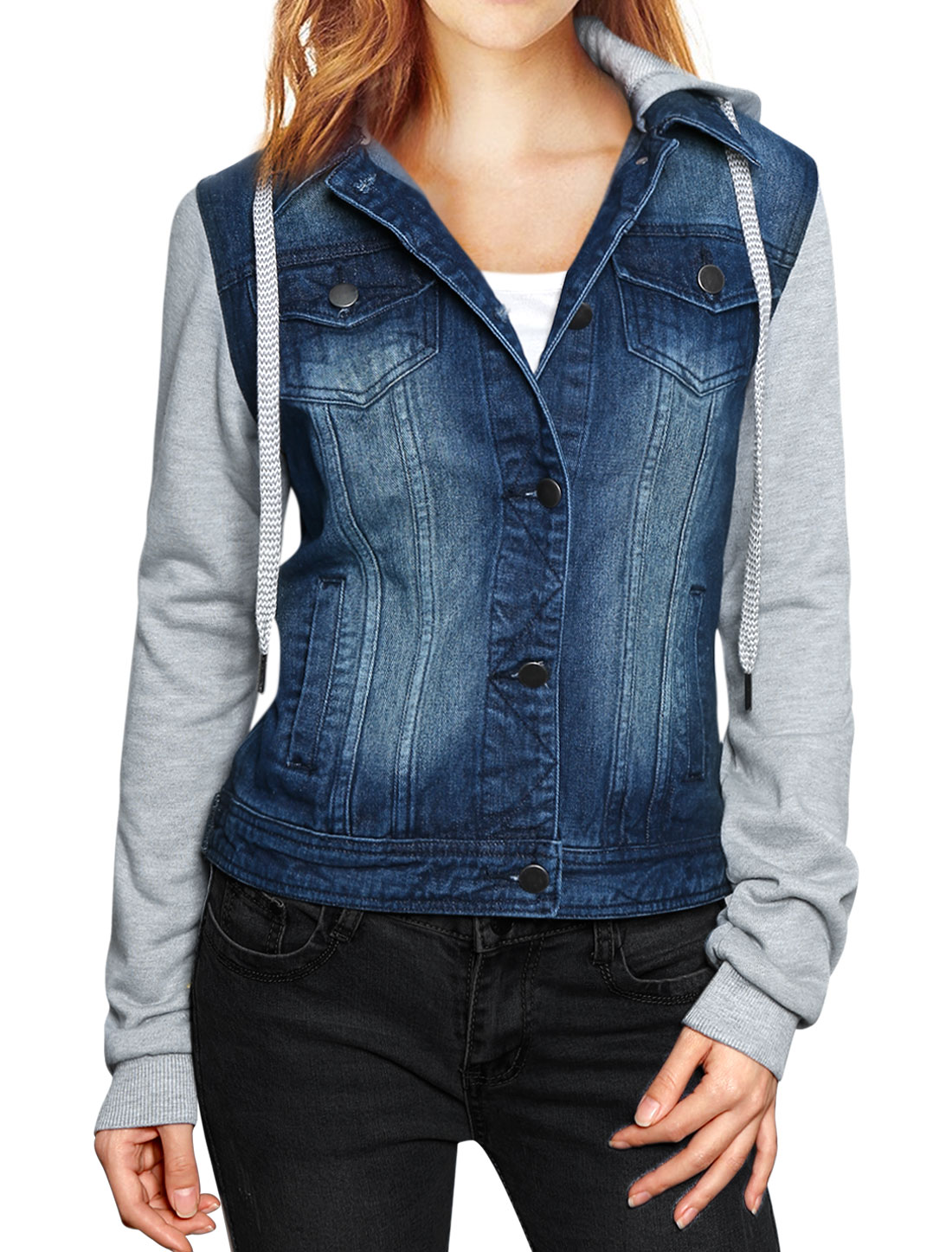 Denim Jackets Outerwear. Showing 48 of results that match your query. Product Title. Time and Tru Women's Hooded Anorak Utility Jacket. See Details. Product - Time and Tru Women's Hooded Puffer Jacket. New. Product Image. Price $ Product Title. Time and Tru Women's Hooded Puffer Cover Girl Jeans Denim Jacket for Women.