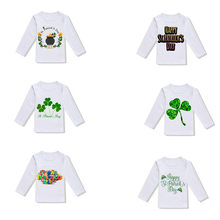 90e37069d (Ship from US) Toddler Baby Girls Boys St Patricks Day T Shirt Irish  National Day Tops Blouse baby girl tops 1st birthday boy birthday top
