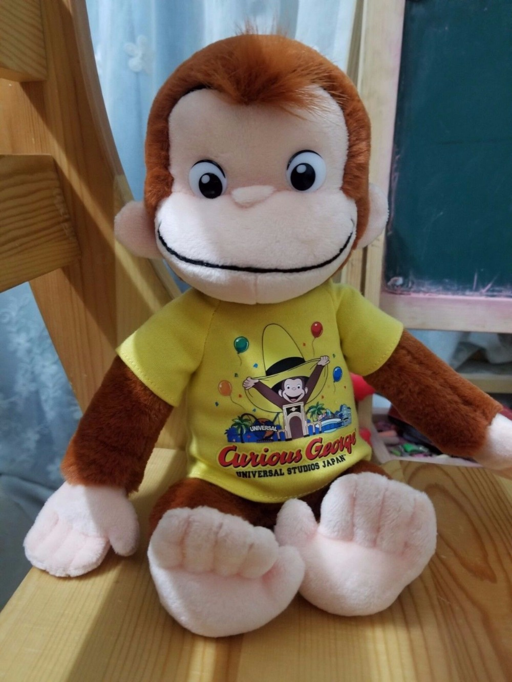 New Japan Curious George Yellow T-shirt  9 Plush Doll ToyNew Japan Curious George Yellow T-shirt  9 Plush Doll Toy