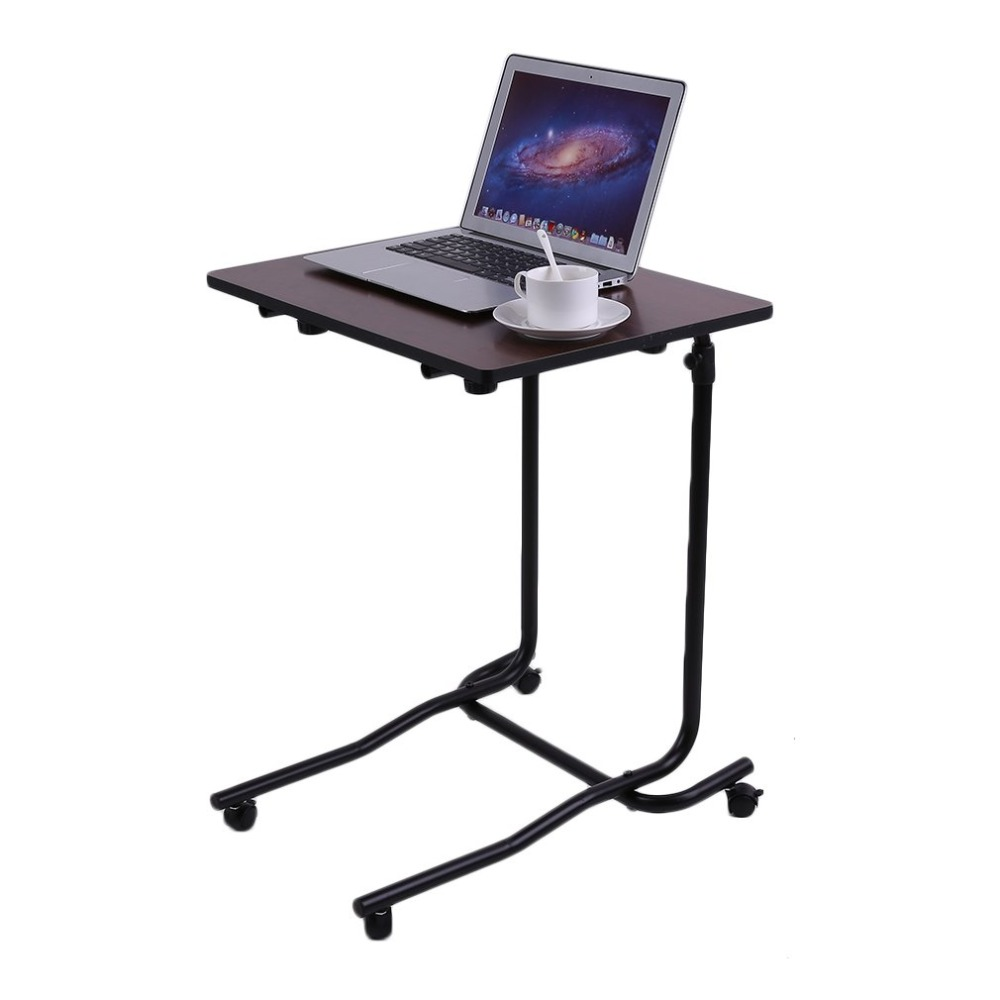 Bedside Adjustable Computer Desk Bed Learning Chair Table 2 Castor Tilting Top Multifunctional Household Table Desk
