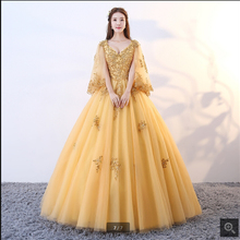 SUNTINGTING Vestido De Festa ball gown prom dress sleeve