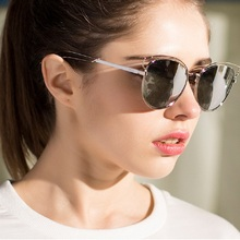 New Fashion metal frame Brand Designer Real Metal Frame eyeglasses Women Sunglasses Cat eye Sunglasses Lens High quality glasses