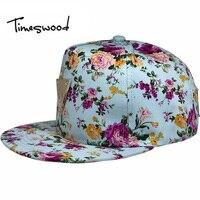 Floral Snapback New Flowers Baseball Cap Snapback Hip Hop Caps Flat Along Hats Wholesale Fashion Women