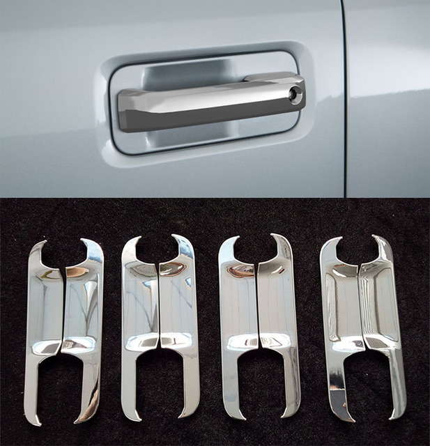 8PCS FIT FOR 2015-2017 FORD F150 F-150 CHROME DOOR HANDLE BOWL COVER & 8PCS FIT FOR 2015 2017 FORD F150 F 150 CHROME DOOR HANDLE BOWL COVER ...