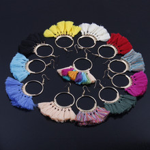 Bohemian tassel earrings ladies bohemian style female jewelry Europe and the United States big circle ear
