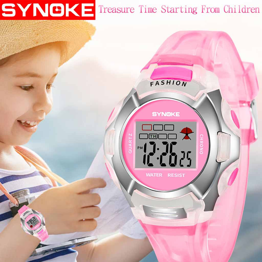 Children's Watch Luminous Waterproof Movement Boy Girl Universal Student Watch Digital Large Screen Sports Electronic Watch LD