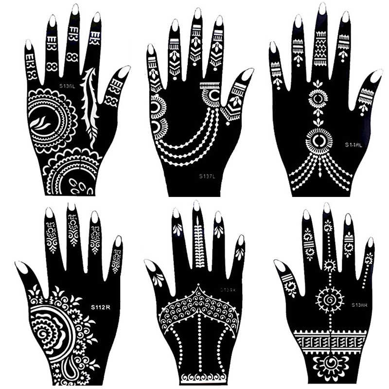 854f7dc5e Detail Feedback Questions about 1 Sheet Hand Large Henna Tattoo Templates  For Body Paint,Flower Glitter Airbrush Indian Henna Temporary Tattoos  21*12cm on ...