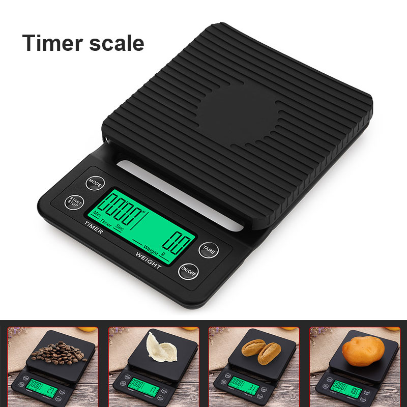 Coffee Scale Digital Scales Kitchen 3kg Dining Weight Balance Accessories Roast Accurate Premium Home Food Weighing 5kg
