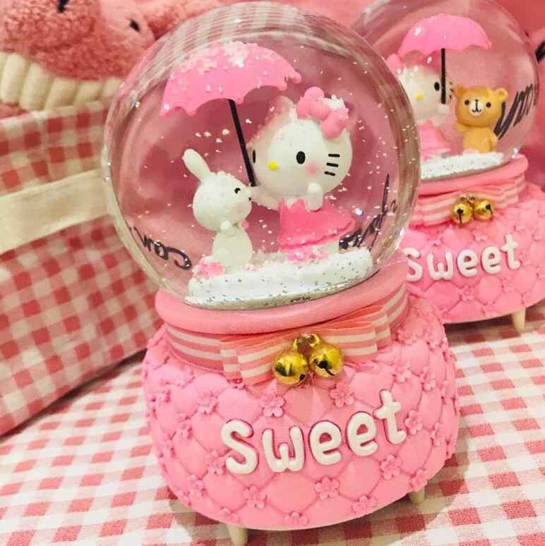 SCY 714 + + + الوردي فتاة عيد ميلاد هدية للبنات ، الصديقات ، كريستال كرات زينة
