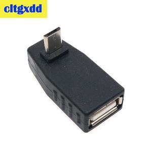 Image 2 - Cltgxdd USB Weiblichen zu Micro USB Männlich 90 Grad Nach Unten rechts Winkel Links Winkel UP OTG Adapter Für handy MP3 Schwarz Stecker